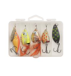 Kinetic River Lake Mix Sluk og spinnersett 5-pack